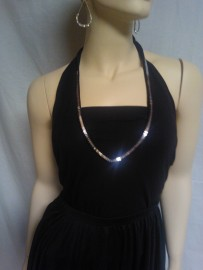 Black Tank with Silver Sequin Trim