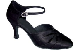 Danielle - Black Satin Ballroom Dance Shoe