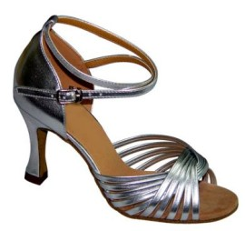 Jodi - WIDE - Silver Latin or Ballroom Dance Shoe