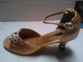Julia Tan Satin - Ballroom or Latin Dance Shoe