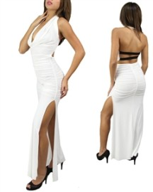 White Long Sexy Dress