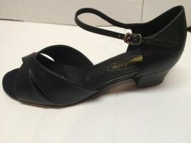Maryjane Black Leather Ballroom Dance shoe