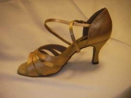 Mia Tan Satin Latin or Ballroom Dance Shoe