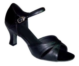 Michelle - Black Leather - Latin or Ballroom Dance Shoe