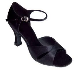 Michelle Black Satin-Clearance- Latin or Ballroom Dance Shoe