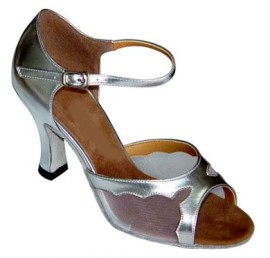 Nicole - Silver and Mesh - Latin or Ballroom Dance Shoe