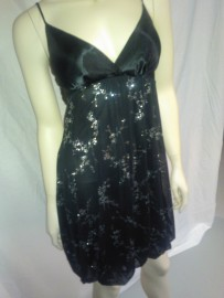 Black Dress with Silver Sparkle