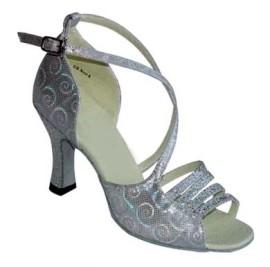 Casandra Clearance - Silver Aurora Latin or Ballroom Dance Shoe