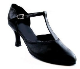 Karen - Black Leather - Ballroom Dance Shoe