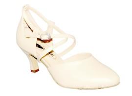 Kristen - Ivory Leather - Ballroom Dance Shoe