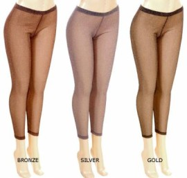 Metallic Leggings - Available in Gold, Silver, Bronze
