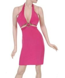 Pink Dress w/ Silver Circle