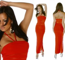 Red Sheer Inlay Dress