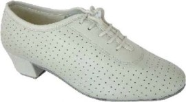 Ruth - Ivory leather - Practice Ballroom Dance Shoe