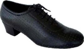 Ruth Black Leather Ballroom Dance Shoe