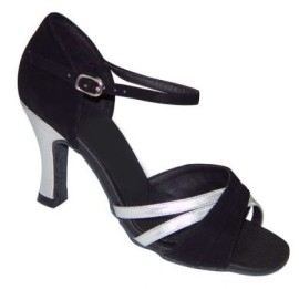 Sara - Black/Silver Latin or Ballroom Dance Shoe