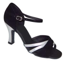 Sara - Black/Silver Latin or Ballroom Dance Shoe