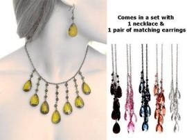 Teardrop Necklace & Earing Set