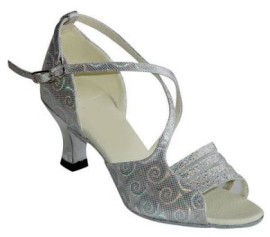 Tina - Silver and Mesh - Latin or Ballroom Dance Shoe