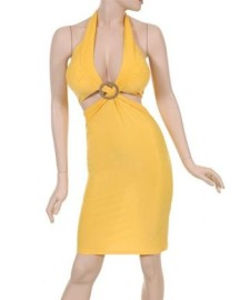 Yellow Dress w/ Silver Circle