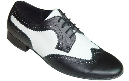 Tom black and white wide ballroom dance shoe usa for Black and white shows