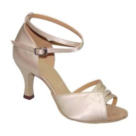 Lilly - Flesh Satin - Latin or Ballroom Dance Shoe