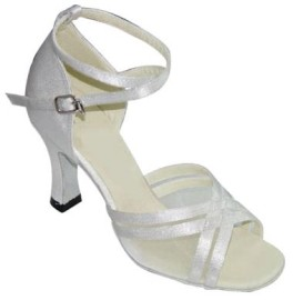 Annabelle - White Satin - Latin or Ballroom Dance Shoe