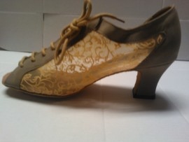 Bice Tan Wide - Ballroom or Latin Dance Shoe