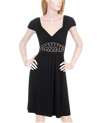 Black Dress with Jeweled Waist