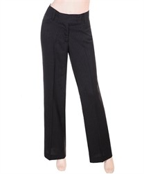 Black Slacks with Pin Stripe
