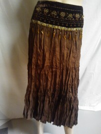 Brown Skirt with Detail