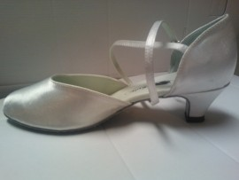 Carol White Satin 1.3 Heel - Ballroom Dance Shoe