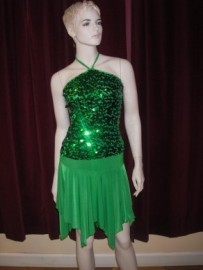 Green Dance Skirt