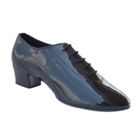 Dustin - Cuban Heel - Black Patent Latin Ballroom Dance Shoe