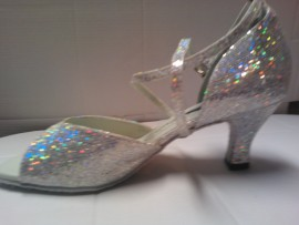 Emily Silver Sparkle - Latin or Ballroom Dance Shoe