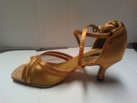 Heather Dark Tan - Latin or Ballroom Dance Shoe