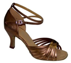 Jodi -Bronze - NARROW - Latin or Ballroom Dance Shoe