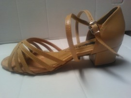 Margaret Tan Leather - Ballroom or Latin Dance Shoe