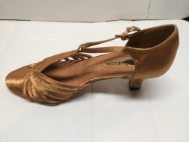 Marjorie Dark Tan Ballroom Dance Shoe