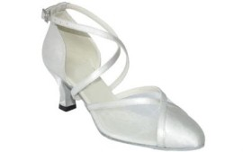 Nancy - White Satin - Latin or Ballroom Dance Shoe