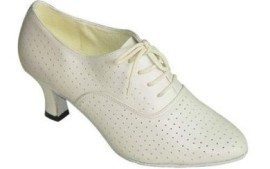 Rhonda - Ivory Leather - Practice Ballroom Dance Shoe
