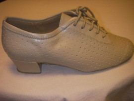 Ruth - Beige Leather - Practice Ballroom Dance Shoe