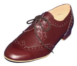 Tom - Mahogany BROWN Leather Ballroom Dance Shoe