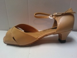 Michelle Tan Leather - Ballroom or Latin Dance Shoe
