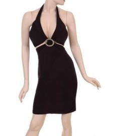 Black Dress w/ Silver Circle