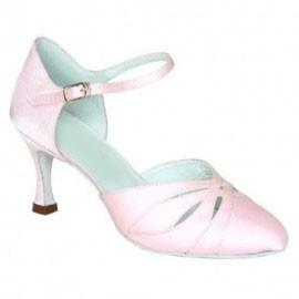 Danielle - Pink Satin -  Ballroom Dance Shoe