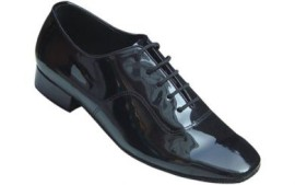 David - Black Patent Leather Ballroom Dance Shoe