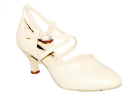 Kristen - Ivory Leather - Ballroom Dance Shoe