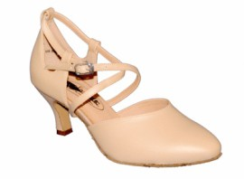 Kristen Tan Leather Ballroom Dance Shoe