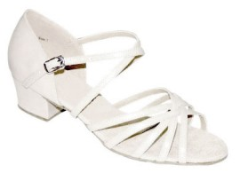 Margaret - White Leather - Latin or Ballroom Dance Shoe